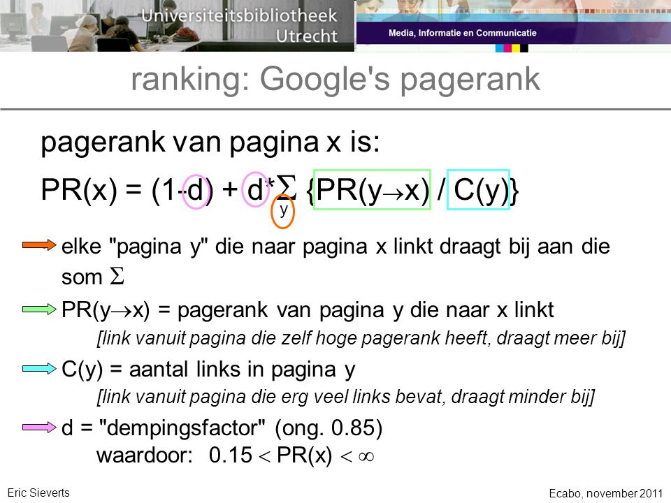ranking: Google s pagerank