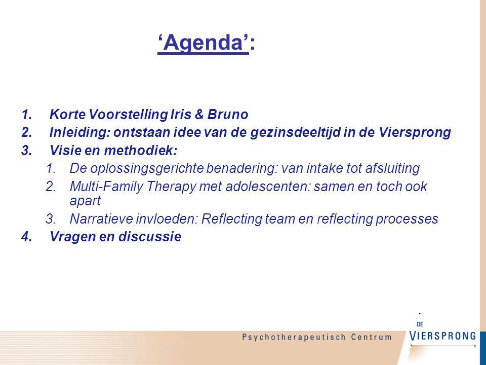 'Agenda': Korte Voorstelling Iris & Bruno
