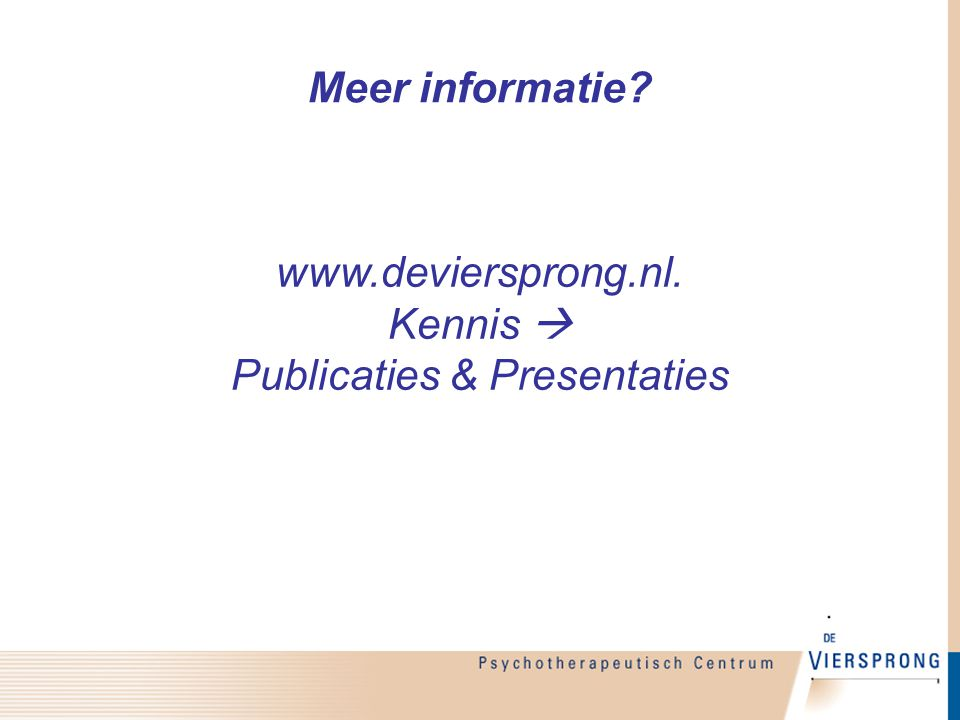 www.deviersprong.nl. Kennis  Publicaties & Presentaties