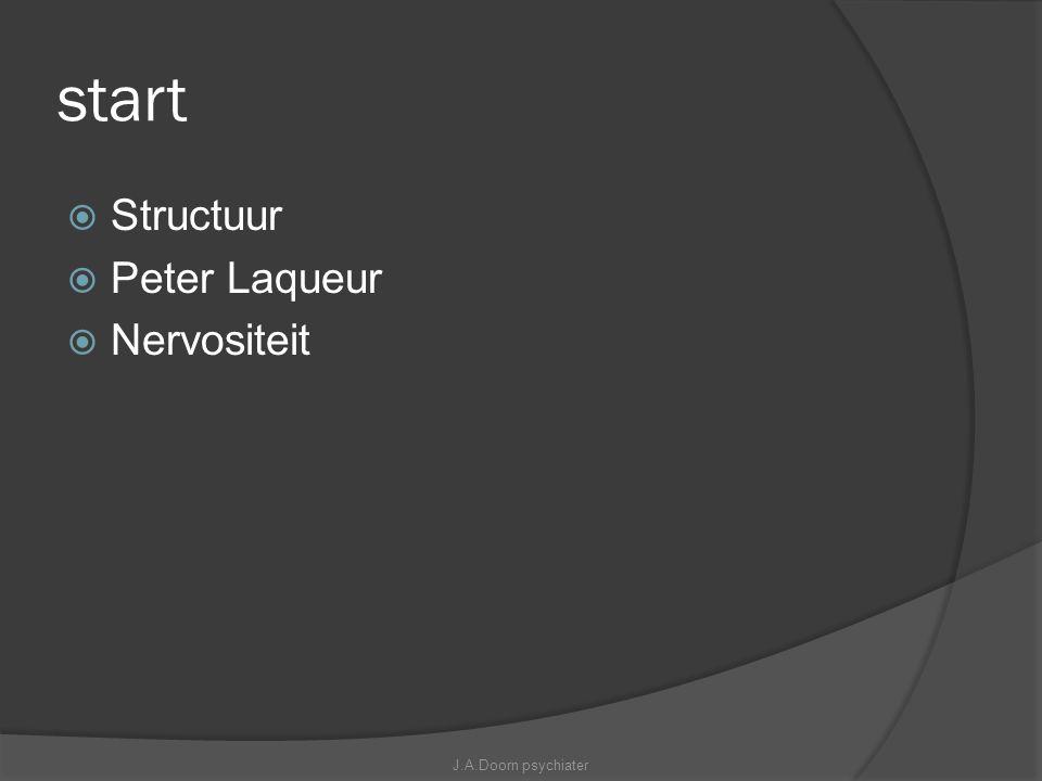 start Structuur Peter Laqueur Nervositeit J.A.Doorn psychiater