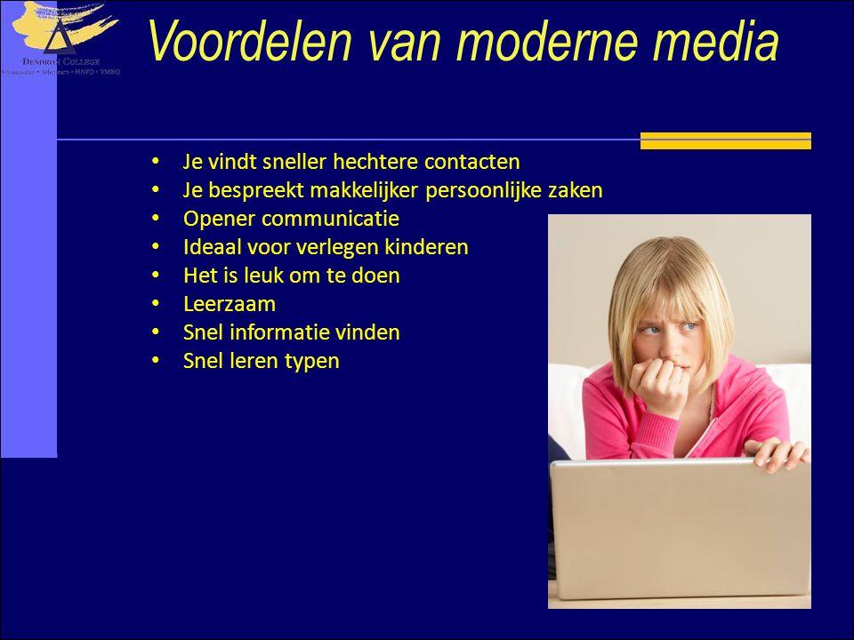 Voordelen van moderne media