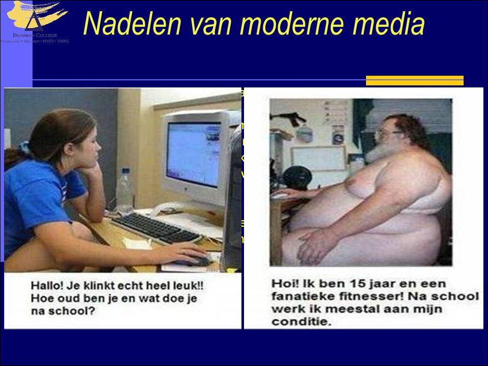 Nadelen van moderne media