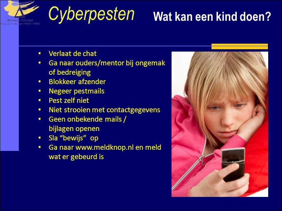 Cyberpesten Wat kan een kind doen Verlaat de chat