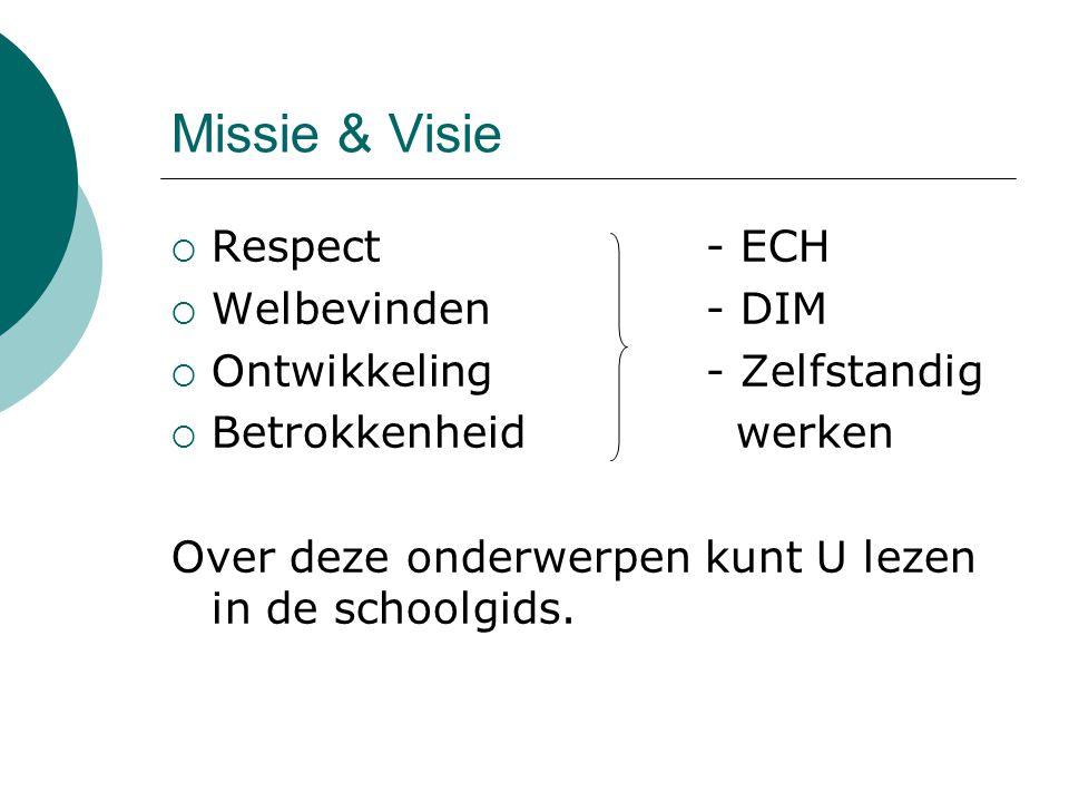 Missie & Visie Respect - ECH Welbevinden - DIM