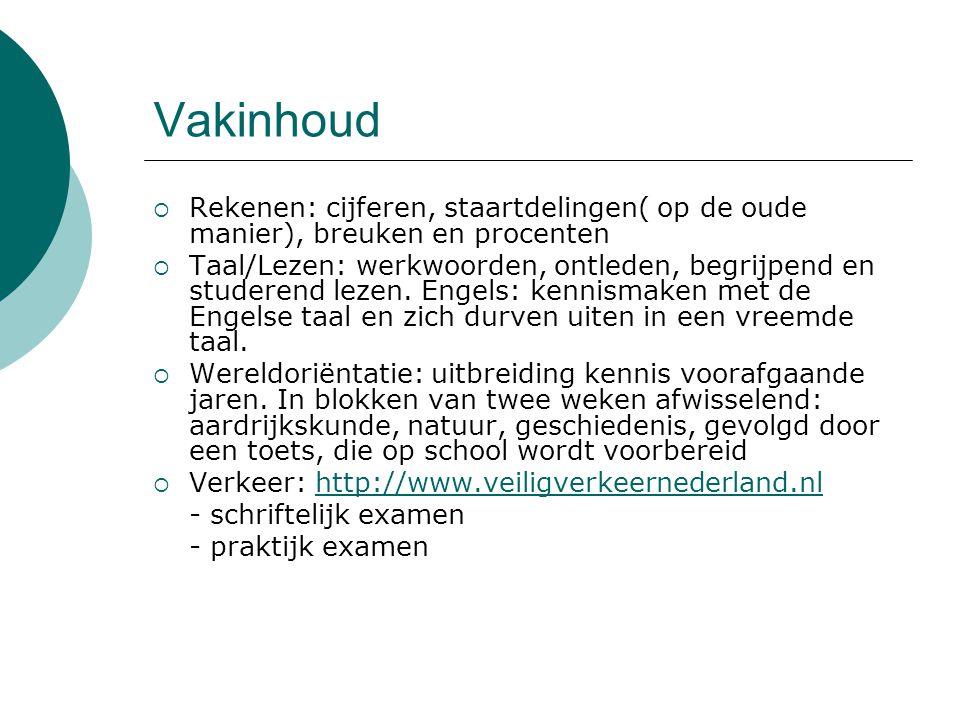 Vakinhoud Rekenen: cijferen, staartdelingen( op de oude manier), breuken en procenten.