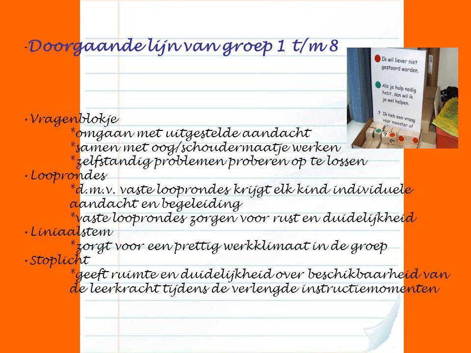-Doorgaande lijn van groep 1 t/m 8