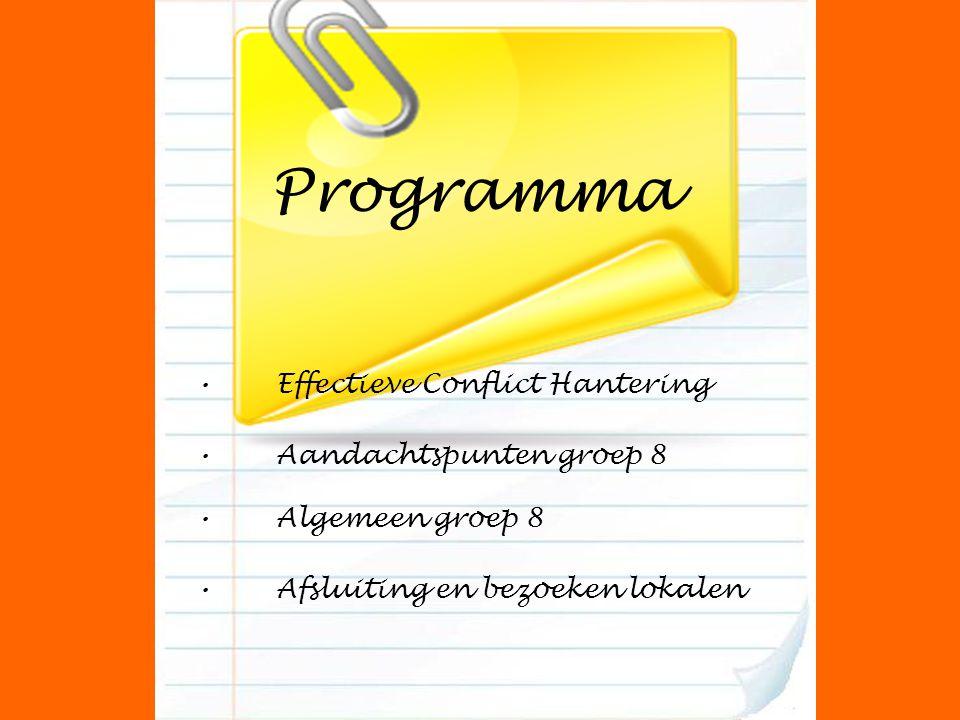 Programma Effectieve Conflict Hantering Aandachtspunten groep 8