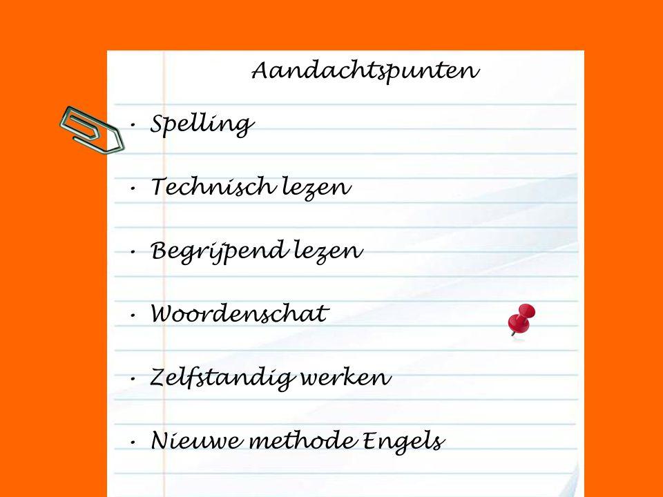 Aandachtspunten Spelling. Technisch lezen. Begrijpend lezen.