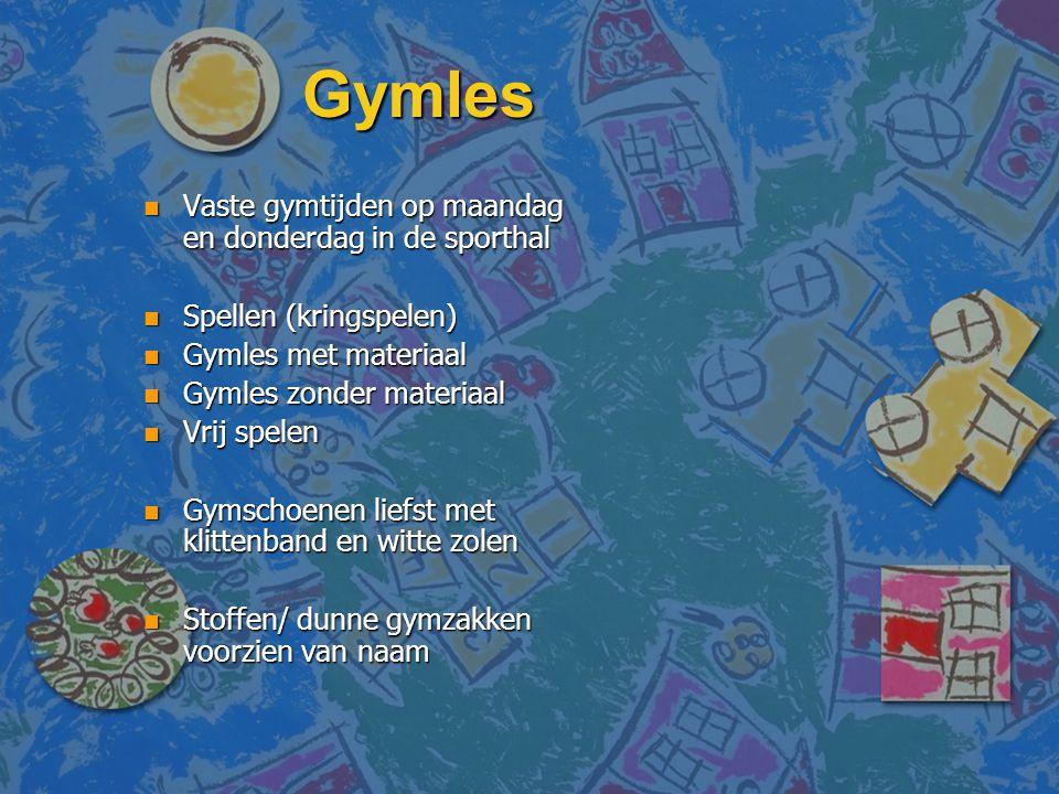 Gymles Vaste gymtijden op maandag en donderdag in de sporthal