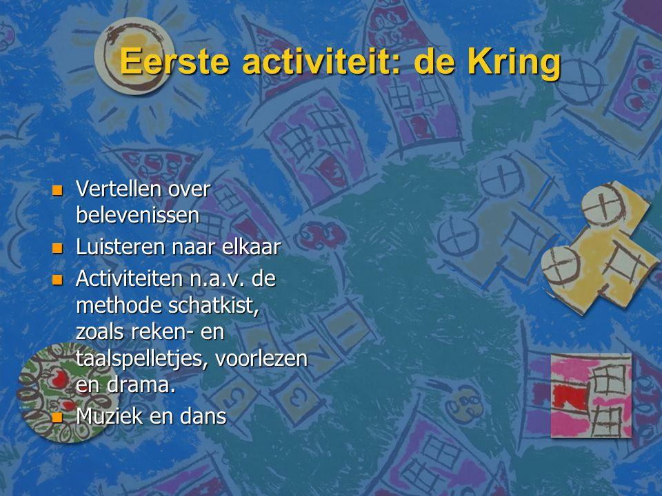 Eerste activiteit: de Kring