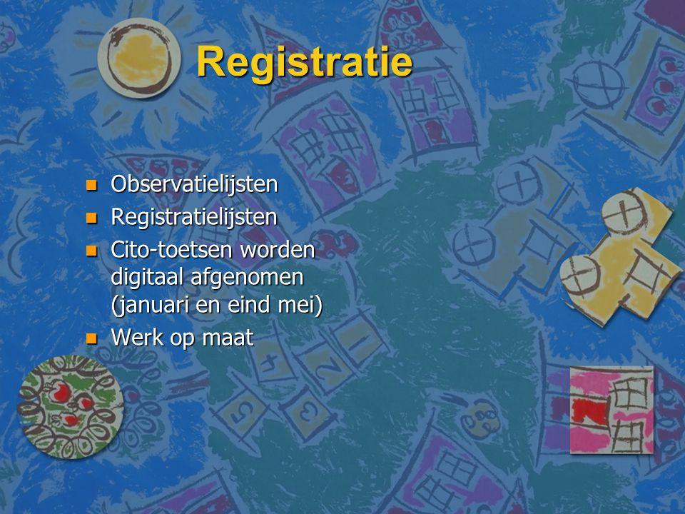 Registratie Observatielijsten Registratielijsten