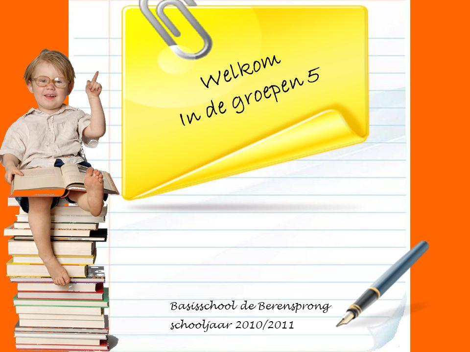 Welkom In de groepen 5 Basisschool de Berensprong schooljaar 2010/2011