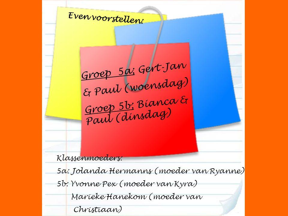 Groep 5b; Bianca & Paul (dinsdag)