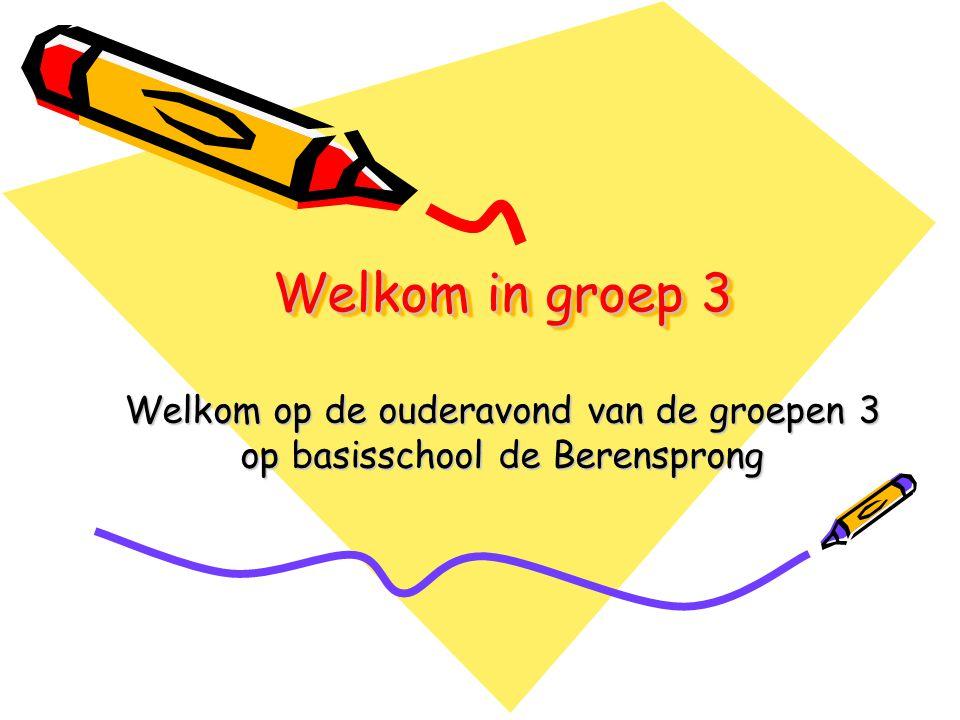 Welkom op de ouderavond van de groepen 3 op basisschool de Berensprong