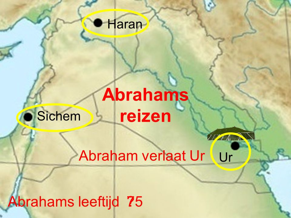 Abrahams reizen Abraham verlaat Ur Abrahams leeftijd 75 Haran Sichem