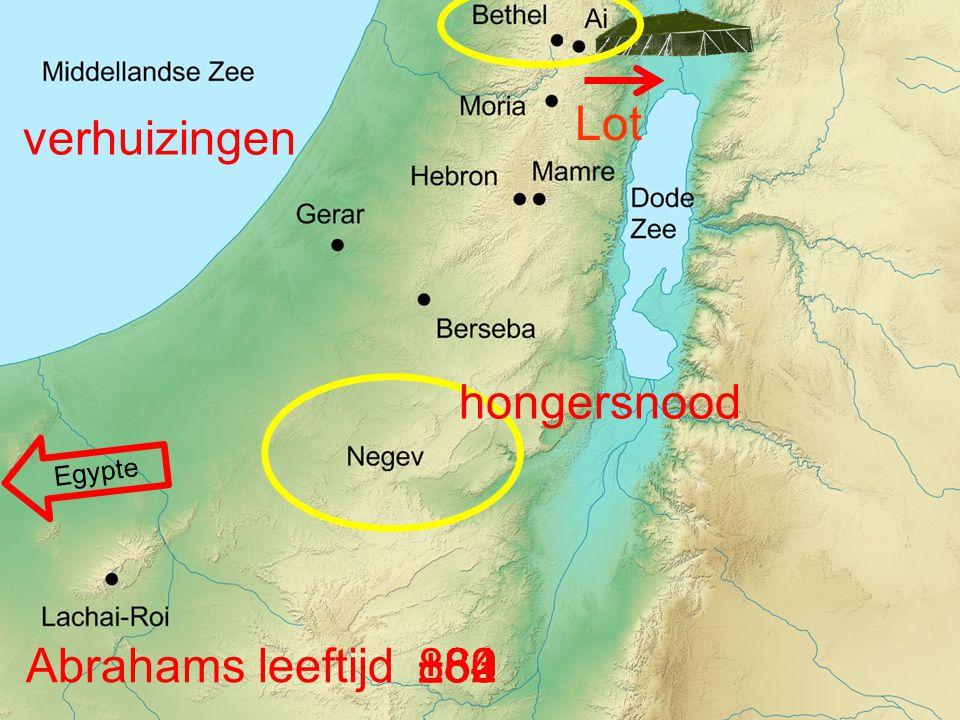 verhuizingen Lot hongersnood Abrahams leeftijd ±84 86 ±80 ±82 ±83