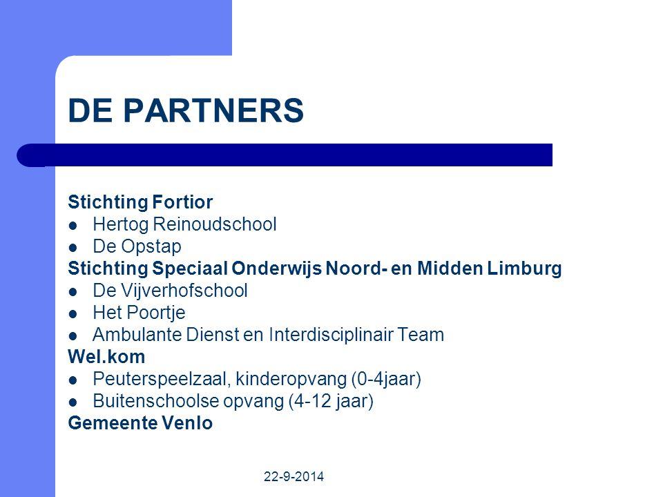 DE PARTNERS Stichting Fortior Hertog Reinoudschool De Opstap