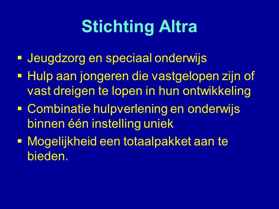 Stichting Altra Jeugdzorg en speciaal onderwijs