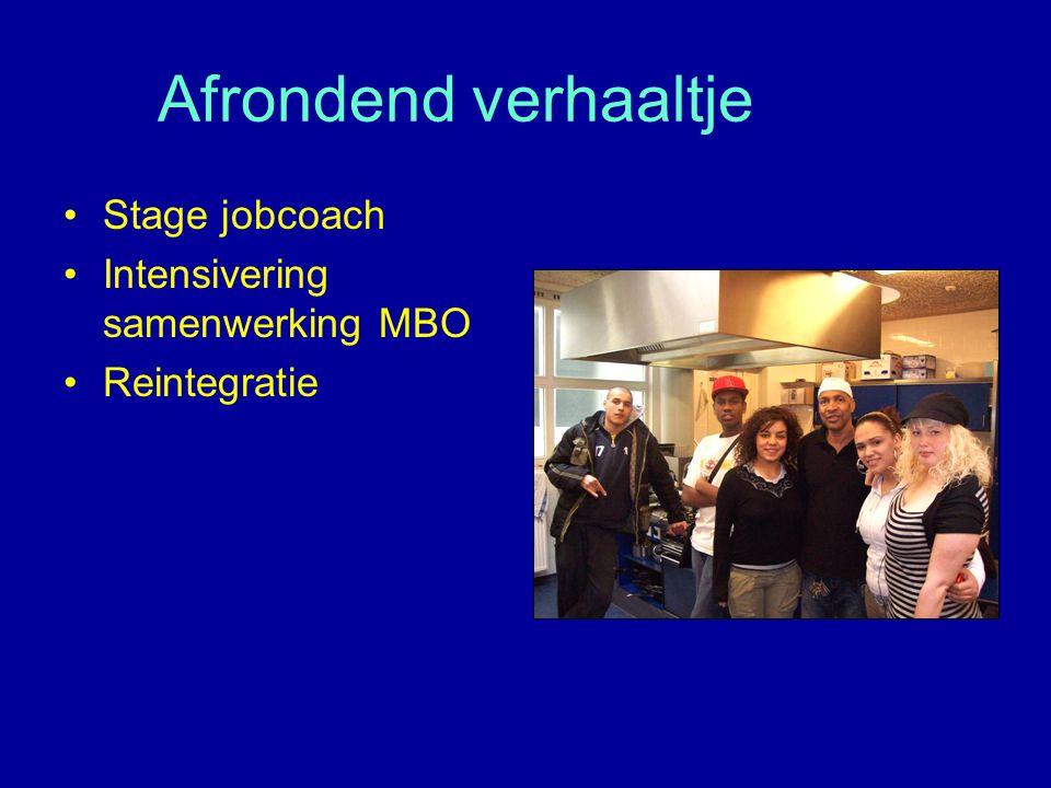 Afrondend verhaaltje Stage jobcoach Intensivering samenwerking MBO
