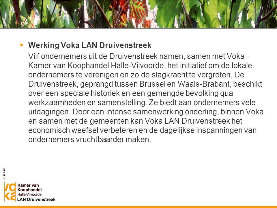 Werking Voka LAN Druivenstreek