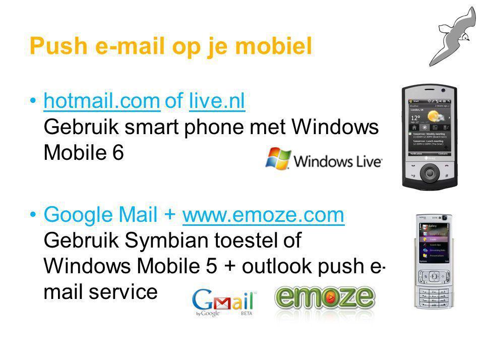 Push e-mail op je mobiel