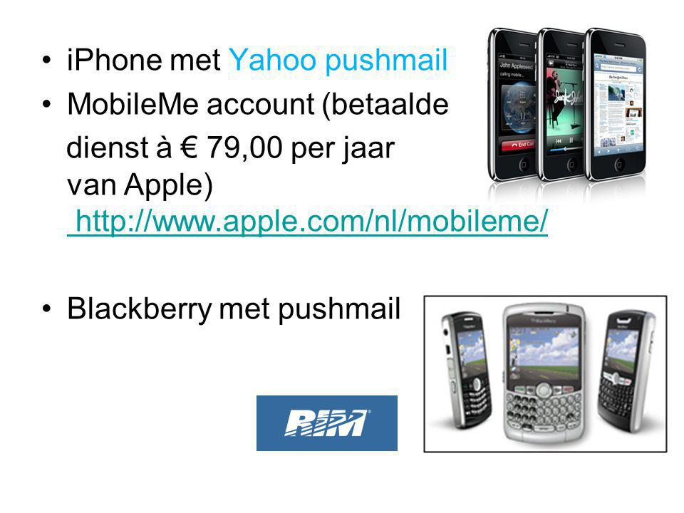 iPhone met Yahoo pushmail