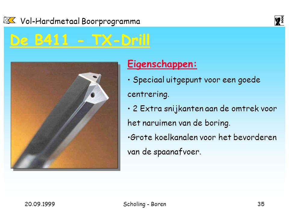 De B411 - TX-Drill Eigenschappen: