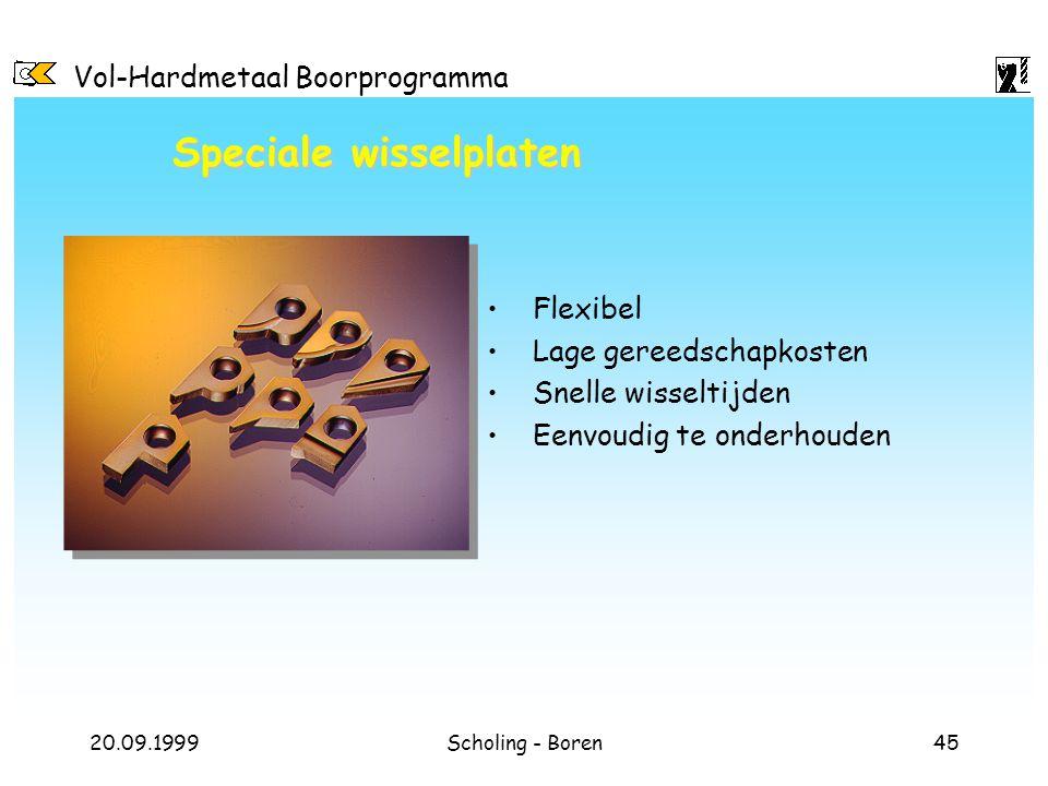 Speciale wisselplaten