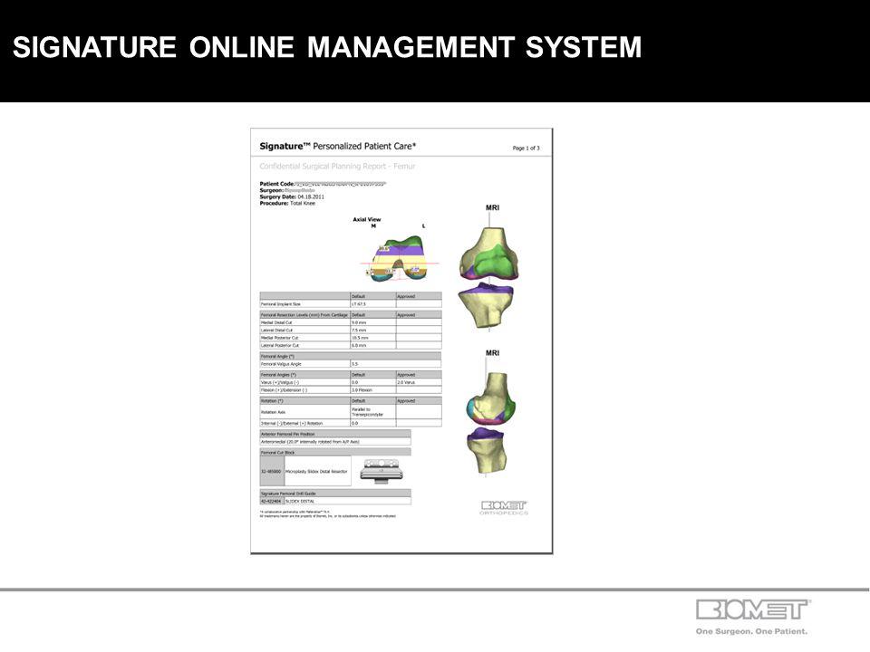 SIGNATURE ONLINE MANAGEMENT SYSTEM