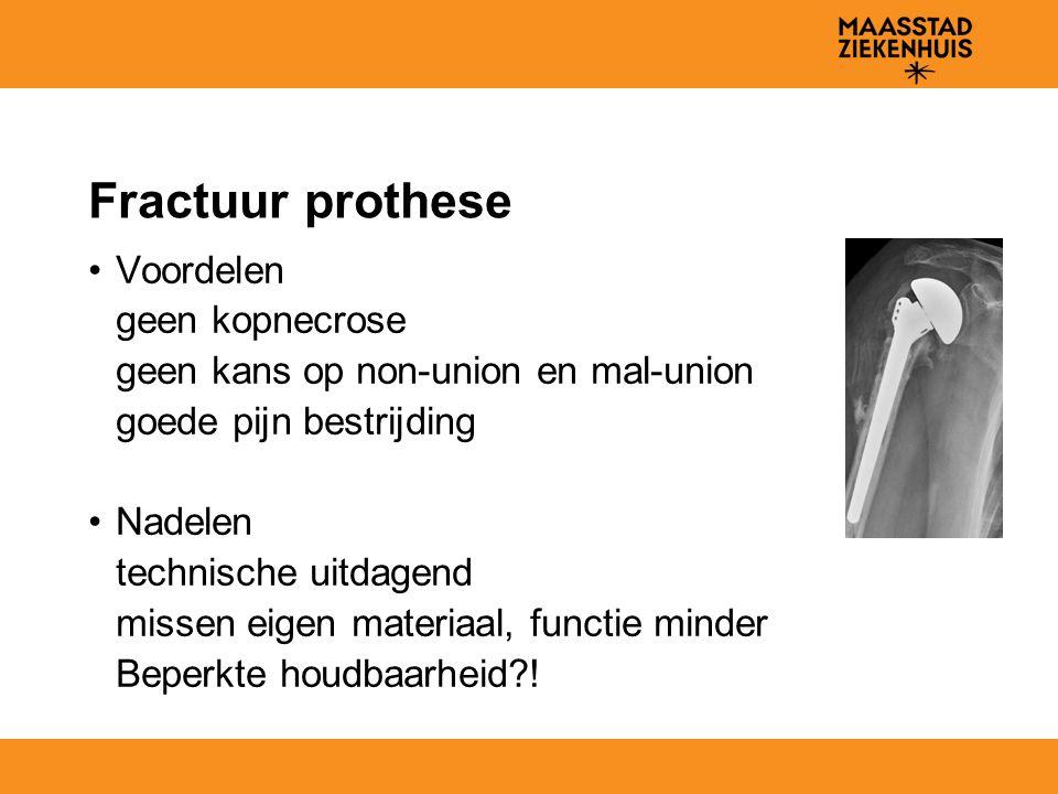 Fractuur prothese Voordelen geen kopnecrose