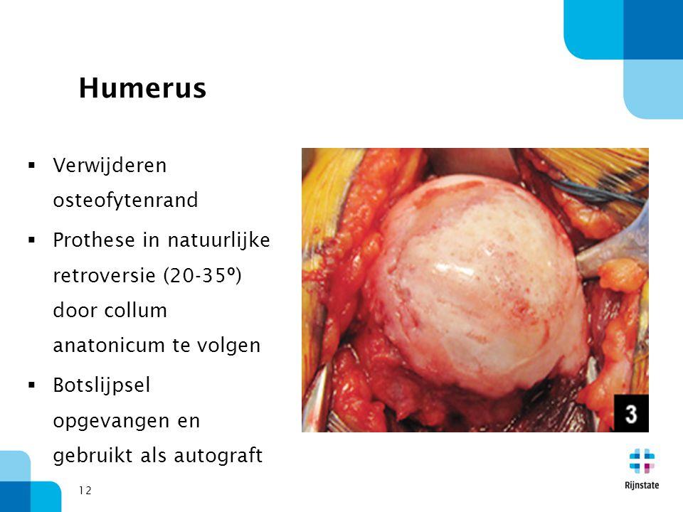 Humerus Verwijderen osteofytenrand