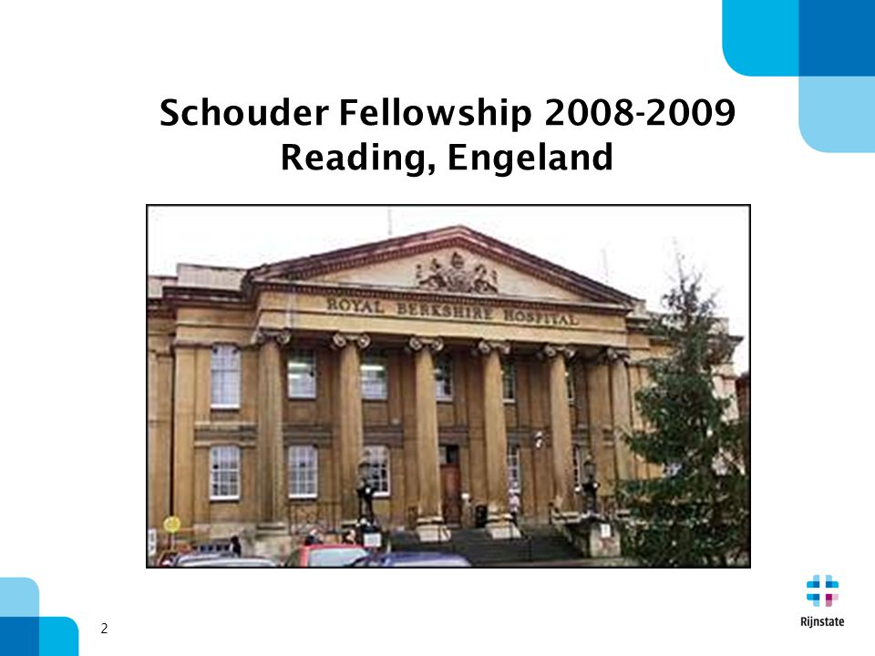 Schouder Fellowship 2008-2009 Reading, Engeland