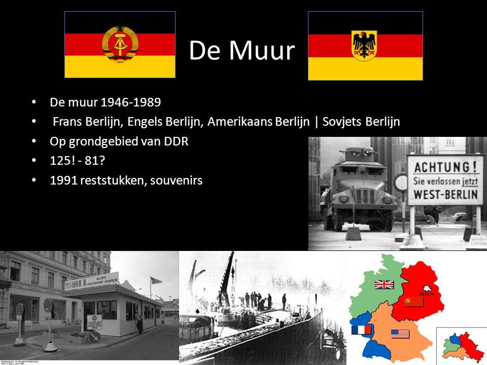 De Muur De muur 1946-1989. Frans Berlijn, Engels Berlijn, Amerikaans Berlijn | Sovjets Berlijn. Op grondgebied van DDR.