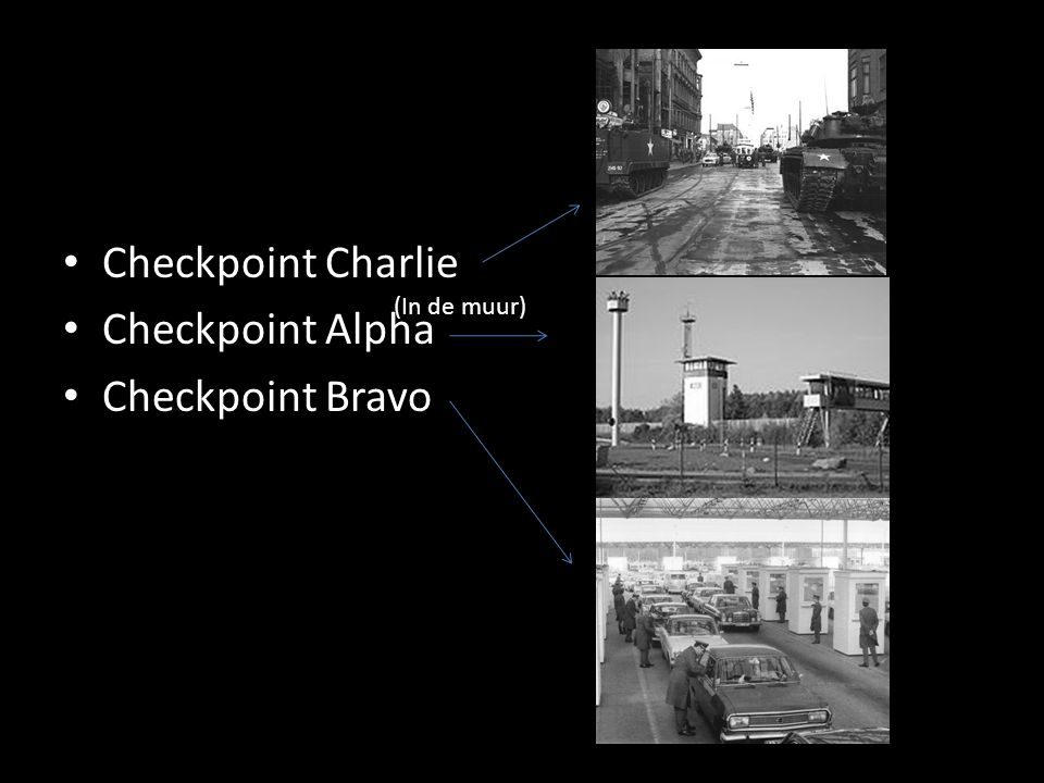 Checkpoint Charlie Checkpoint Alpha Checkpoint Bravo (In de muur)