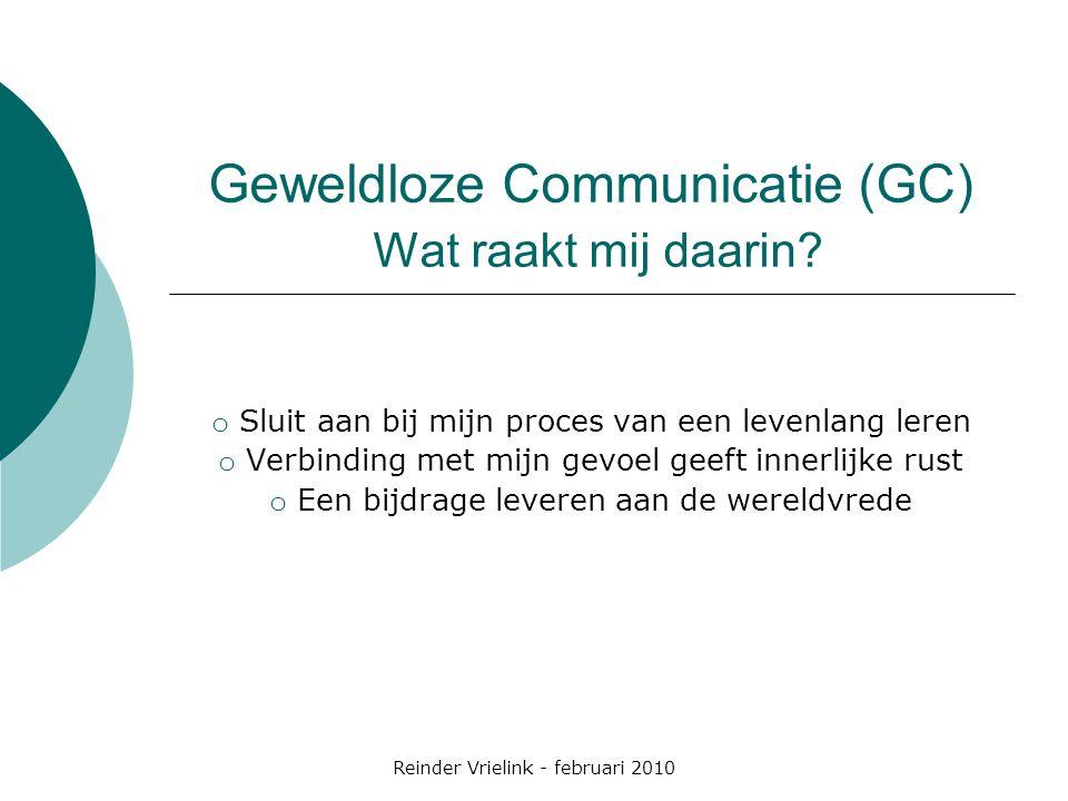 Geweldloze Communicatie (GC) Wat raakt mij daarin
