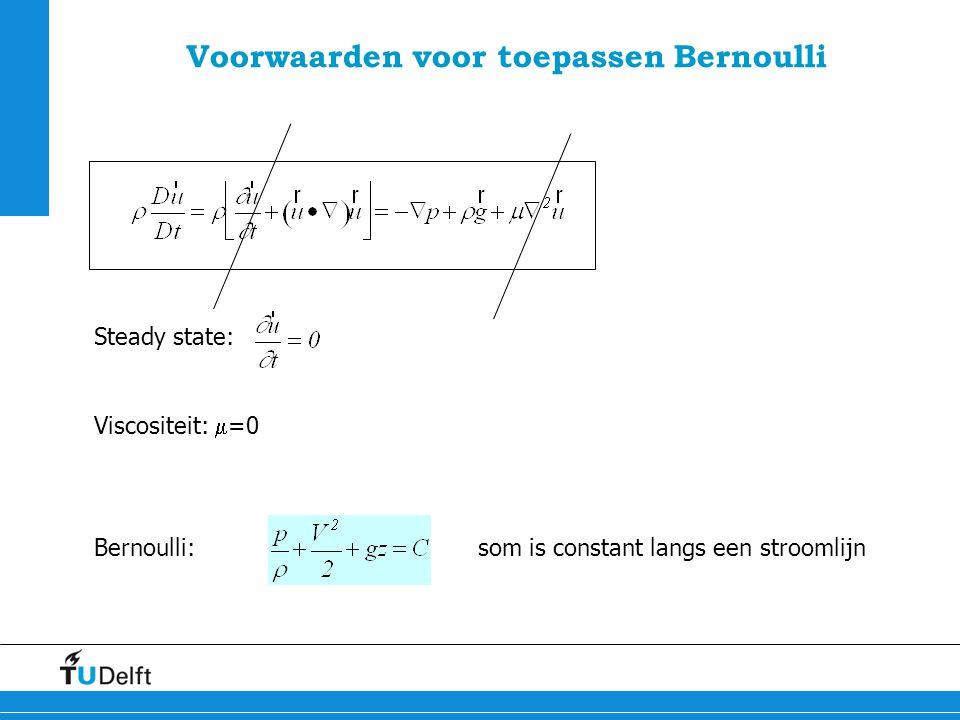 Voorwaarden voor toepassen Bernoulli