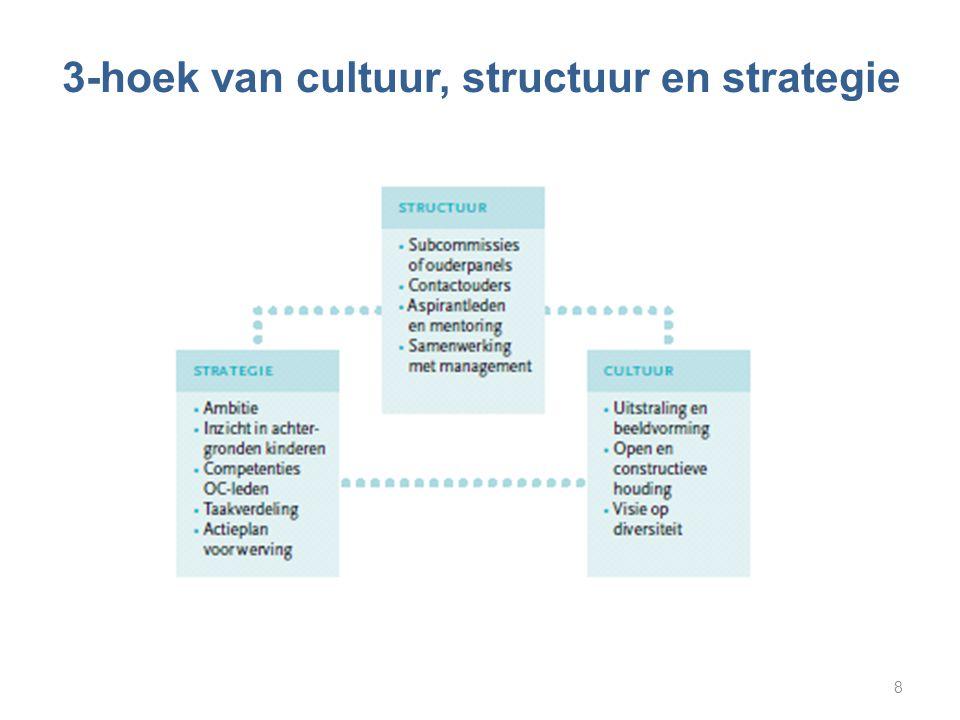 3-hoek van cultuur, structuur en strategie