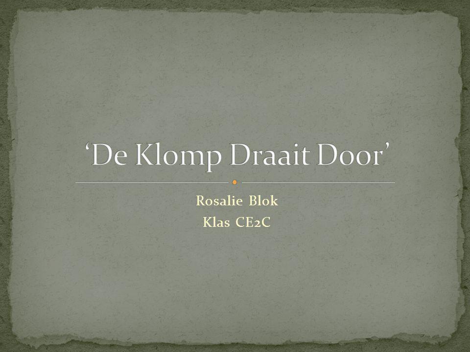 'De Klomp Draait Door' Rosalie Blok Klas CE2C
