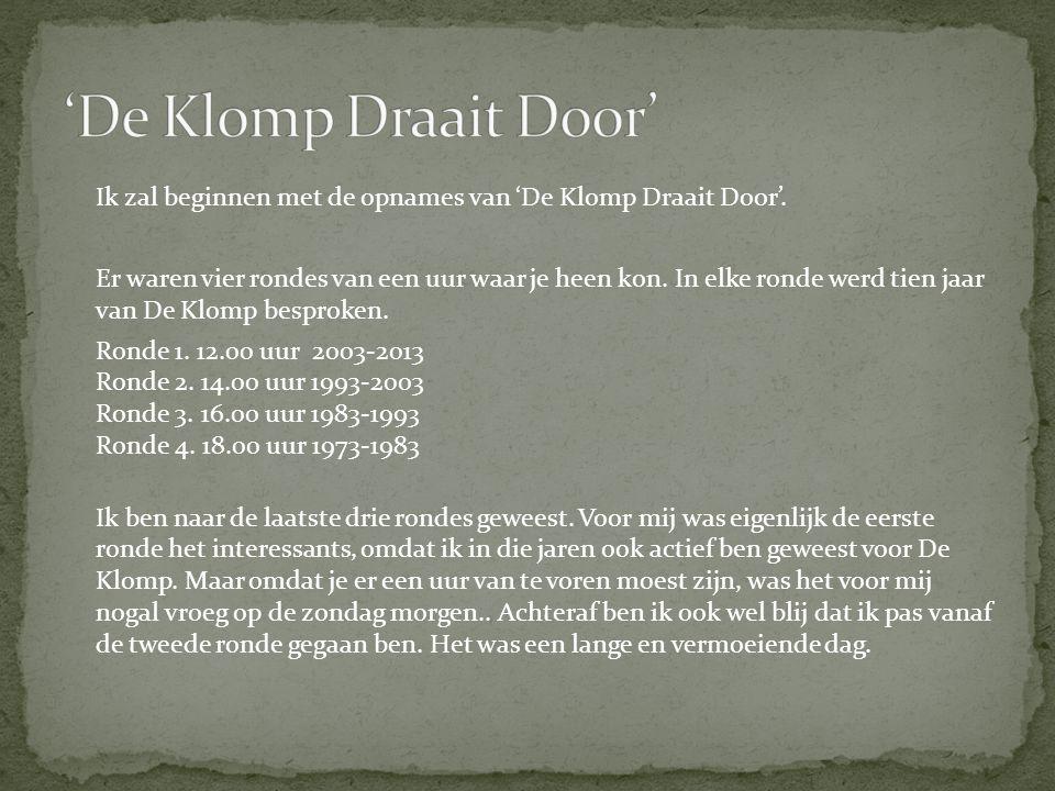 'De Klomp Draait Door'