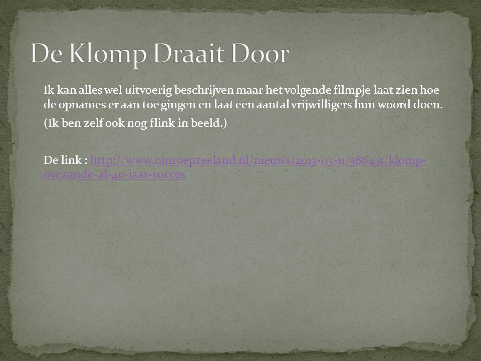 De Klomp Draait Door