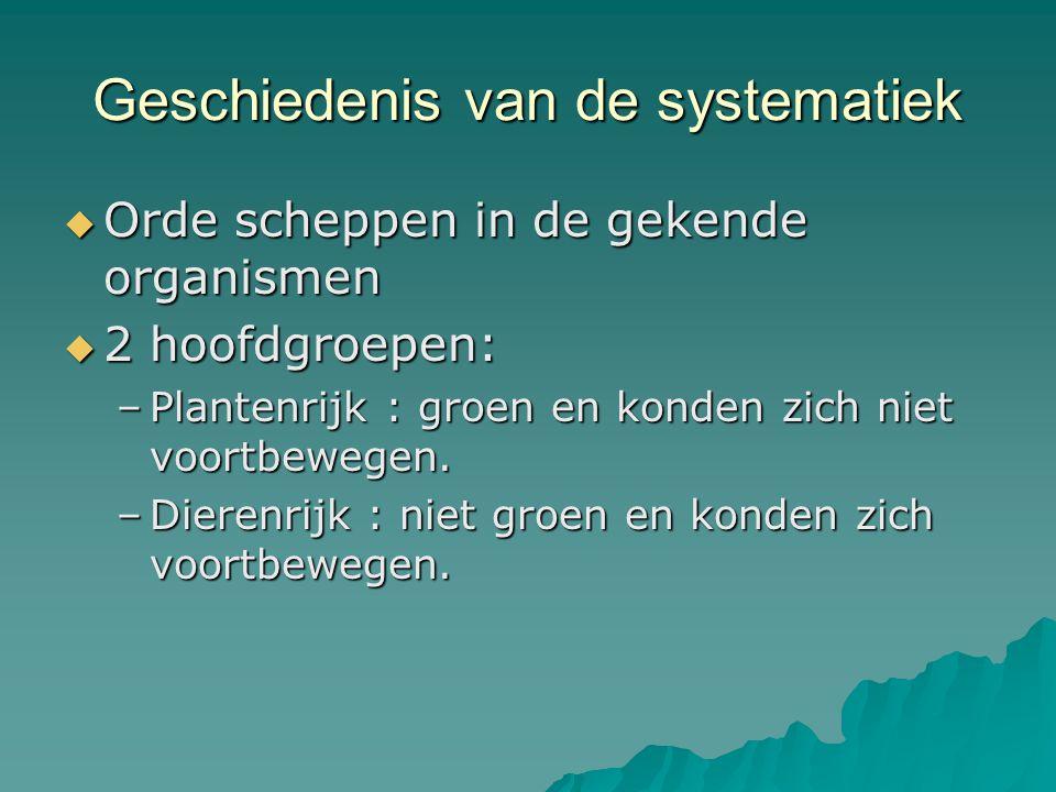 Geschiedenis van de systematiek