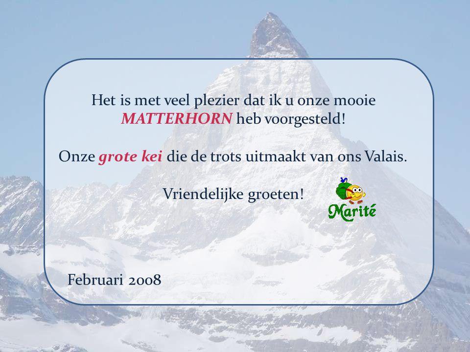 Onze grote kei die de trots uitmaakt van ons Valais.