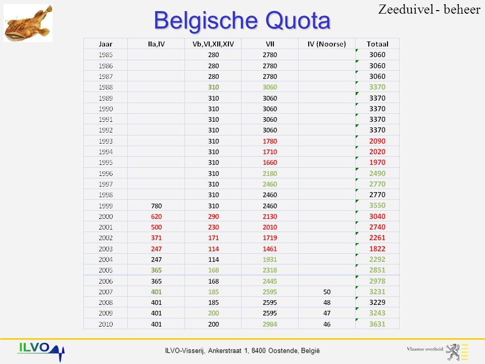 Belgische Quota Zeeduivel - beheer