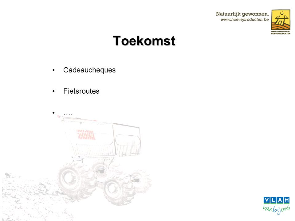 Toekomst Cadeaucheques Fietsroutes ….