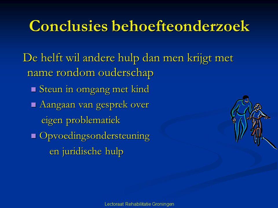 Conclusies behoefteonderzoek
