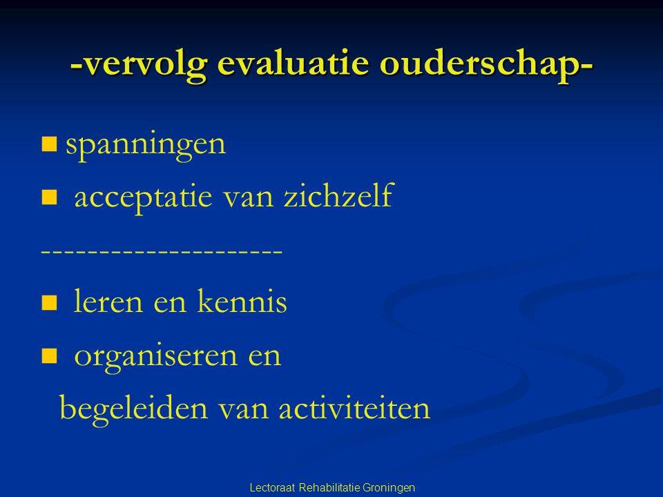 -vervolg evaluatie ouderschap-