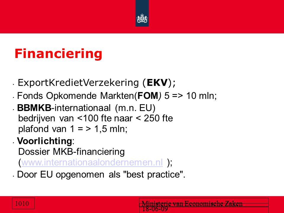 Financiering ExportKredietVerzekering (EKV);