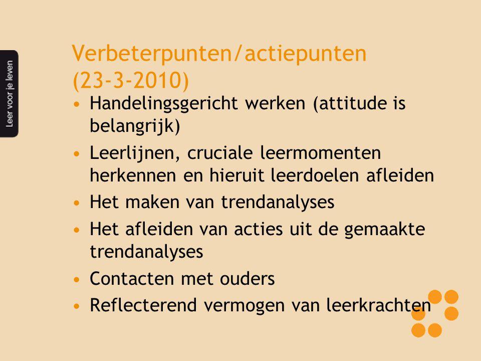 Verbeterpunten/actiepunten (23-3-2010)
