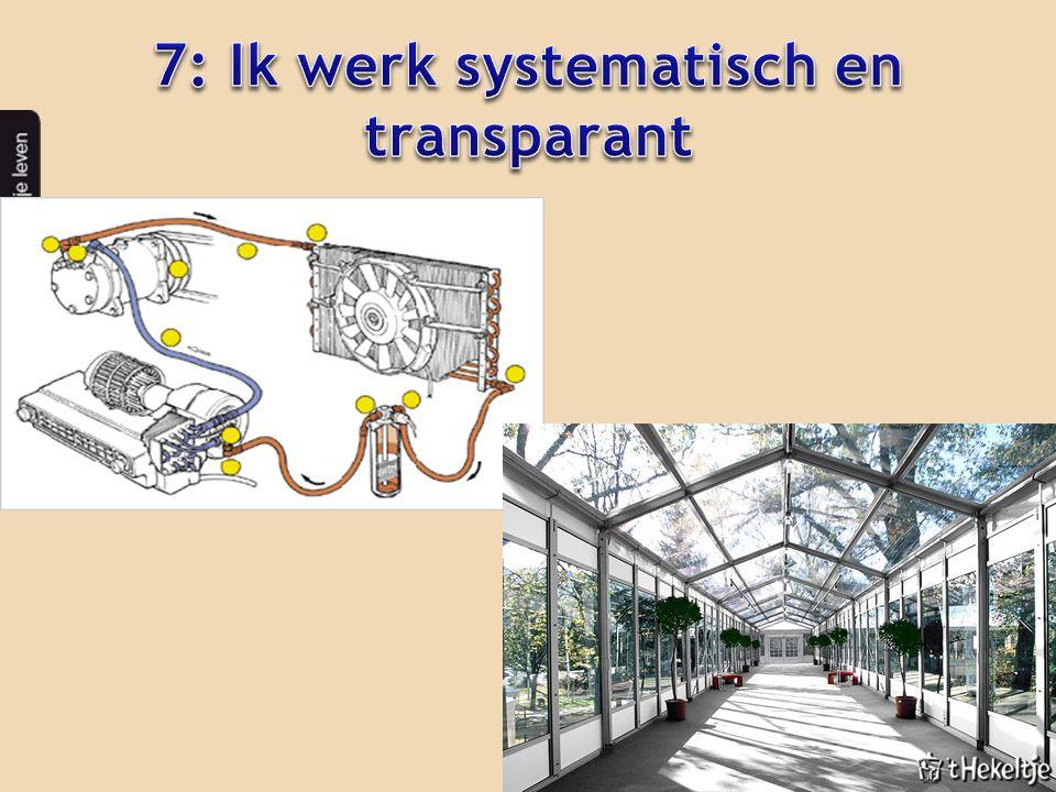 7: Ik werk systematisch en transparant