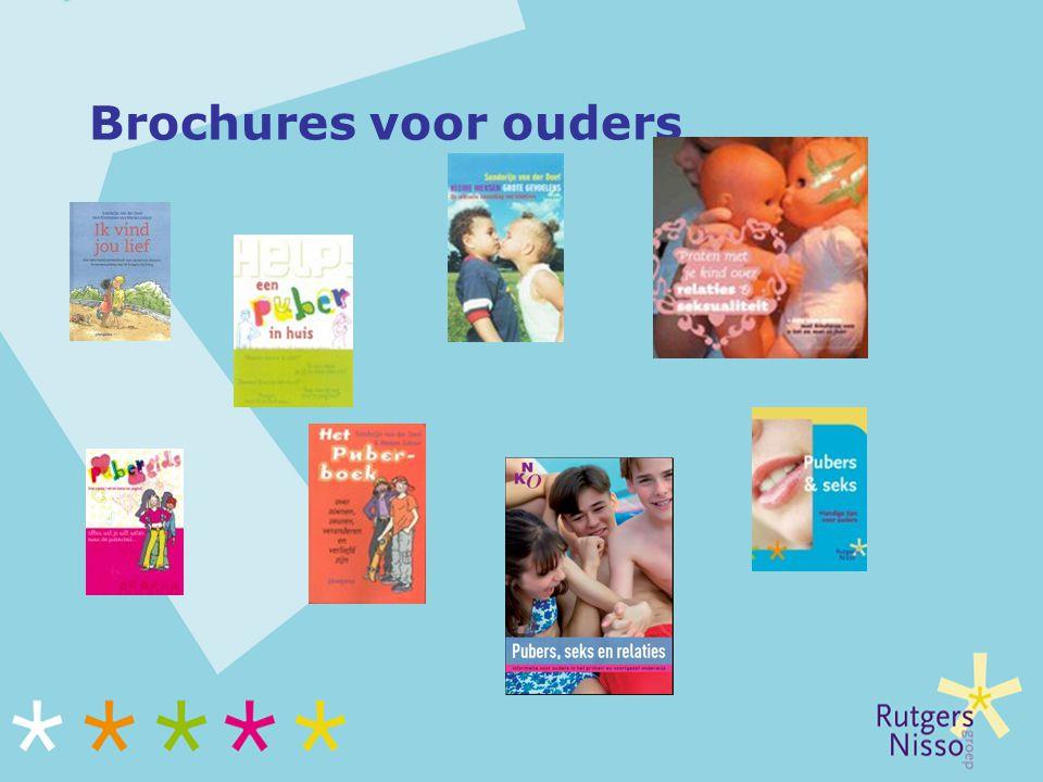 Brochures voor ouders Niet alleen materialen maar ook nuttige/handige websites: www.seksuelevorming.nl.